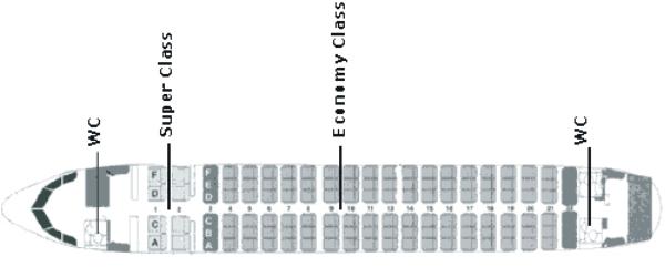 Схема салона Аэробуса A319