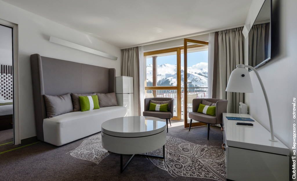 Номер Сьют в городке Club Med Grand Massif Samoëns Morillon
