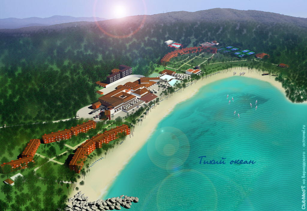 План городка Club Med Ixtapa Pacific