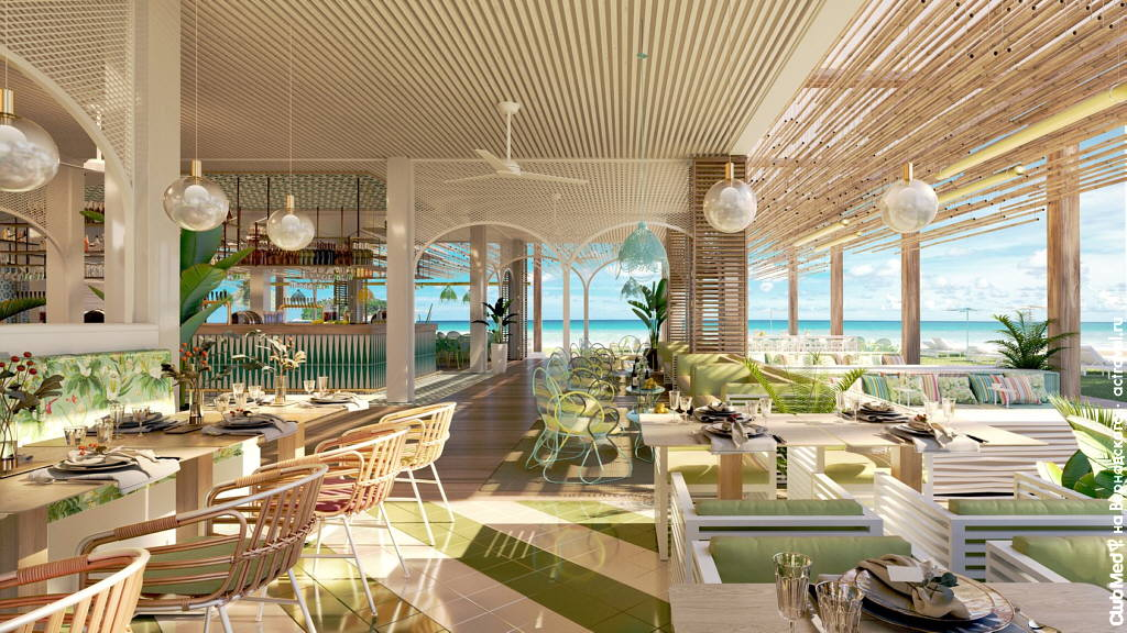Ресторан на курорте Club Med Michès Playa Esmeralda, Доминикана