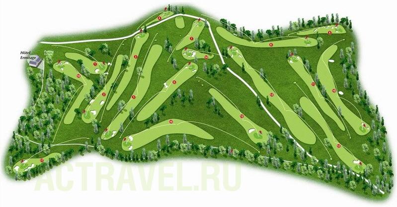 Схема Гольф-поля в Виттеле