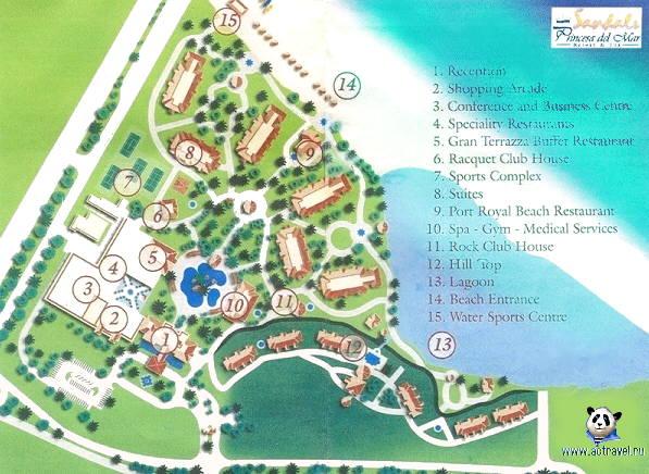 Расположение. Карта отеля
