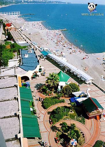 Отель Дагомыс. Схема пляжа.