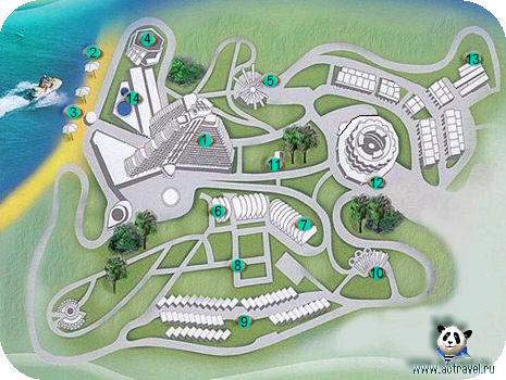 Схема отеля Дагомыс