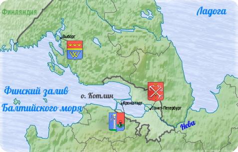 Карта тура Санкт-Петербург