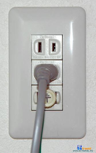 Типы розеток и напряжение электрического питания в разных