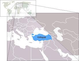Расположение турции на карте мира