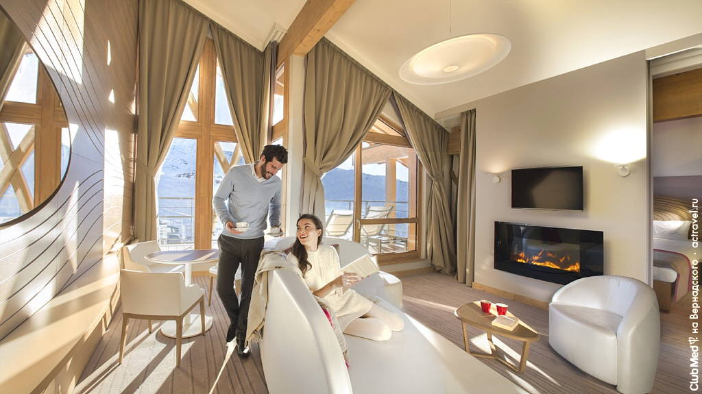 Номер в городке Club Med Val Thorens Sensations